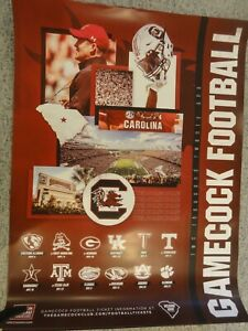 NEW, USC Gamecock 2021 Football Schedule Poster, UNIVERSITY OF SOUTH CAROLINA