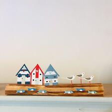 Shoeless Joe Driftwood Idyllic Beach Hut Scene Shelf Sitter Decoration