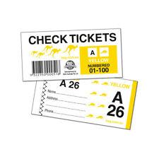 72 x Raffle Check Ticket books