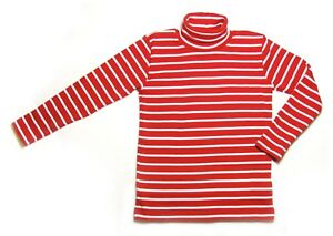 Polo Neck Jumper- Roll Neck Top 100% Cotton Kids Boys Girls Unisex 2 - 6 years