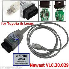 MINI-VCI J2534 OBDII USB Cable Diagnostic Scanner For Toyota Lexus TIS Code Scan