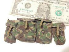 1/6 Great Britain modern woodland camo Army side pack waist packs + web belt