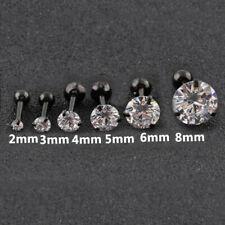 Zircon Stainless Steel Tragus Ear Stud Cartilage Body Piercing Earrings Jewelry