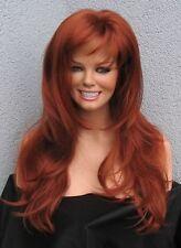 Showgirl oder Vamp - lange Perücke für ganz tolle Fülle in rot