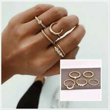 Rings Boho Knuckle Fashion Gold Heart Love Thumb Stack Jewelry S3