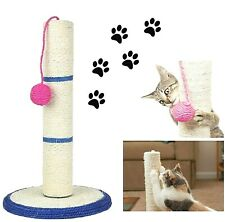 Cat Scratching Post Bed Activity Centre Toys Grey Sisal Play Scratcher