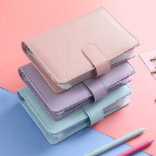 More details for pu leather notebook binder budget planner organizer cover pockets cash wallet a6