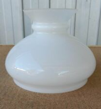 Milk Opal Glass Lamp Shade Electric Kerosene Oil Banquet Table D Vintage