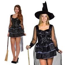 Sexy Disfraz de Halloween Espeluznante Damas Vestido Sombrero de bruja mística Wicked Fancy Dress