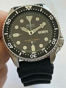 Seiko Automatic Scuba Diver stainless steel mens watch w. date, Japan, 7S26-0020