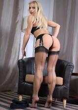 Rear View Stocking Legs Model 5X7 Photo Busty Adult beauty Female Print 3745D