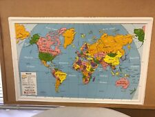Brand New Nystrom Raised Relief Bright Colors Map of the World
