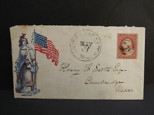 very rare 3 cents 1860 illustrated cover superb