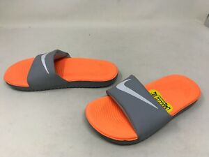 Boys Nike (819352-801) Kawa gray/orange Slides (449K)