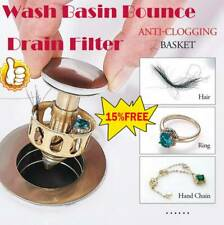 Universal Wash Basin Bounce Drain Filter 2-in-1 Bathtub Stopper and Filter 1pcs