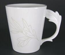 TEAVANA Exclusive Collection Tea Cup Mug White Leaf Handle Fine Porcelain
