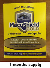 90 Macushield Gold with Omega 3 dual-capsule eye care supplement 1 months supply