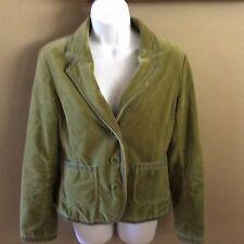 Boden Velvet Blazer Jacket Size 12 Green Women's Holiday olive green fully lined