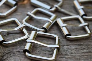 Metal Roller Buckles TO FIT 25mm Strap NICKEL SILVER Colour packs of 2, 4, 6, 10
