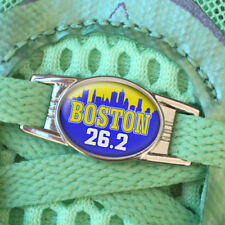 TWO (2) Boston 26.2 Marathon Shoe Shoelace Charm Tag 2014 2015 2016 2017 2018