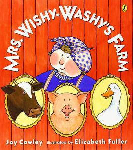 Mrs. Wishy-Washy's Farm by Joy Cowley (Paperback) NEW  FREE shipping $35
