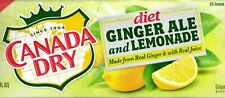 Canada Dry Diet Ginger Ale and Lemonade Soda 12 Pack of Cans