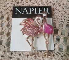 Napier Gold Tone Flamingo  Brooch