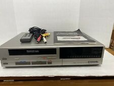 Panasonic Omnivision Vhs Player PV- 1330 W/instructions & Wired Remote TESTED