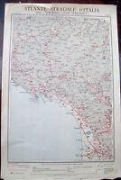 1920 CARTA GEOGRAFICA LUNIGIANA TOURING. MASSA, LA SPEZIA, AULLA, SARZANA...