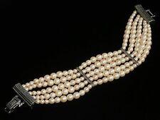 Christian Dior Signed Bracelet Five Strand Pearls  42 grams