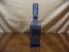 Decorative Bottle - Blue W/Apple - Very Nice