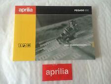 Nuevo Original Aprilia Pegaso 650 1997-2000 use+maintenance Libro ap8102759