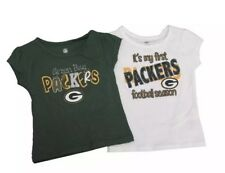 New Combo Lot Of 2 Green Bay Packers Toddler Girls Shirts Size 2T