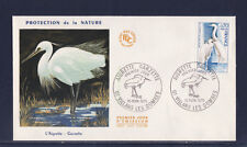 enveloppe 1er jour   oiseau aigrette garzette 01 Villard les Dombes     1975