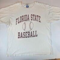 VTG 80's SPORTSWEAR Florida State FSU T-Shirt XL 100%  Crew s/s Made in USA