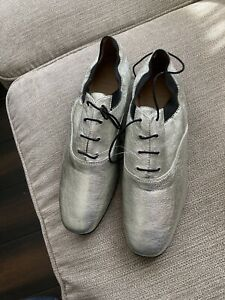 """Tory Burch  """"Bombe"""" oxford shoes In Silver Size 11 $295"""