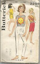 Butterick Sewing Pattern 2298, Vintage Sportswear, Girl's S. 12 Chest 30, Uncut