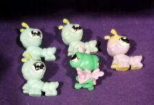 Littlest Pet Shop lot of 5 baby CATERPILLAR, inchworm Fairy green purple yellow