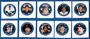 1984 Fun Foods Proof DETROIT TIGERS Team Set ex-mt Trammell Whitaker Morris (10)