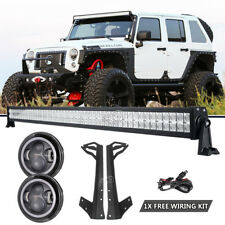"For Jeep Wrangler JK 07~17Mount Bracket+52""inch 700W LED Light Bar+7"" Headlight"