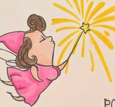 Fairy Humor Handmade Greeting Card, silly, friendship thinking of you, birthday