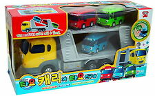 Friction powered Carry Truck + 3pcs X Little Bus TAYO Wind UP Bus/Character Toy