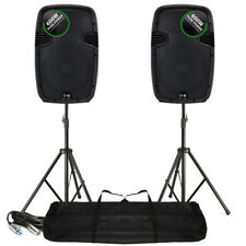 """2x Ekho RS12A 12"""" Active PA Speakers Stands Mobile DJ Party 1200W SSC2628"""