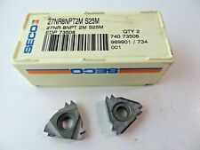 2 Seco 27nr 8npt 2m S25m Carbide Pipe Threading Inserts New