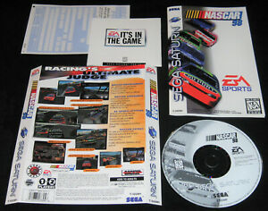 NASCAR 98 (Sega Saturn, 1997) Complete w/o Case