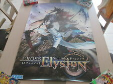 >> SHINING FORCE CROSS ELYSION SEGA ARCADE B1 SIZE OFFICIAL POSTER! <<