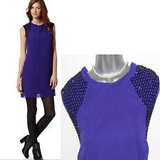 Principles by Ben De Lisi Purple Embellished Tunic Mini Dress UK 14  EU 42 £69