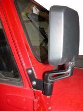 JP-1018 Skidrow Right Side Black Mirror Relocation Bracket Jeep Wrangler YJ