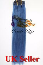"""20"""" 100g Clip in Full Head Double Drawn Russian Remy Human Hair Extensions 7A"""