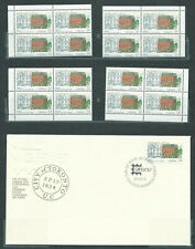 New ListingCanada # 1122 blank corner blocks match set Mnh + Fdc - Capex 87